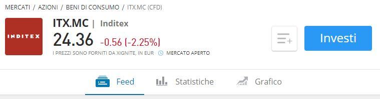 Comprare azioni Inditex etoro