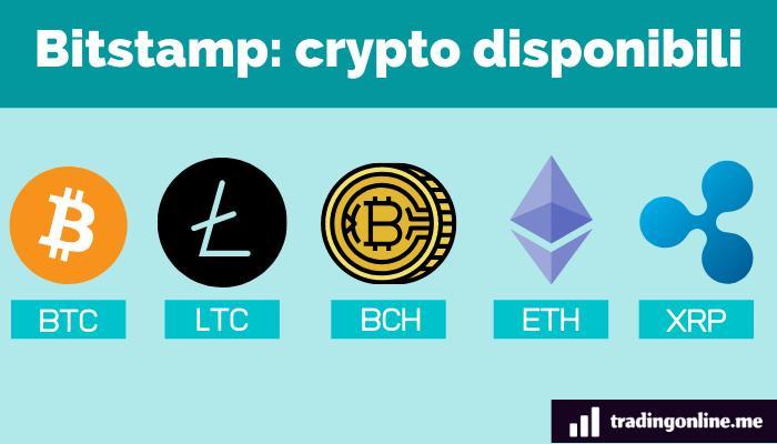 Bitstamp criptovalute disponibili