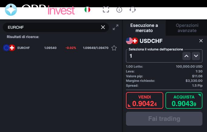 Cambio Euro Franco svizzero obrinvest