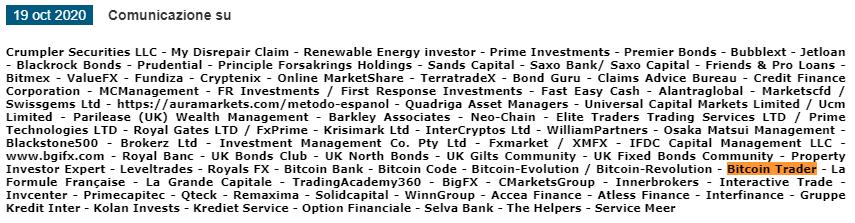 trader bitcoin è una truffa