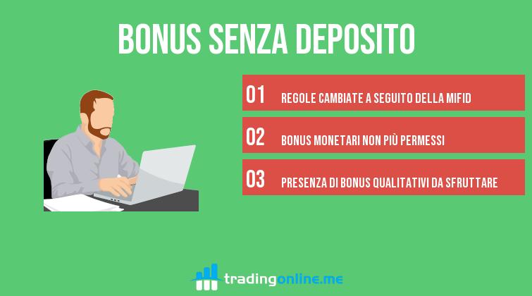 bonus forex senza deposito