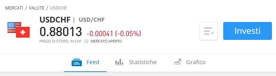 cambio dollaro franco svizzero etoro