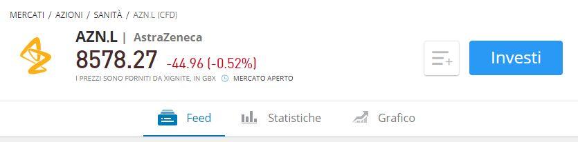 comprare azioni AstraZeneca con etoro