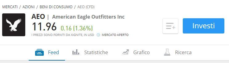 comprare azioni american eagle eToro