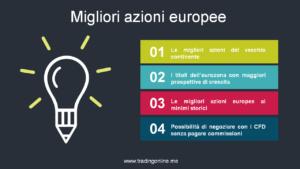 Migliori azioni Europee da comprare | Guida completa