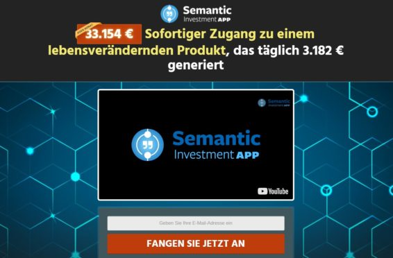 semantic investment app