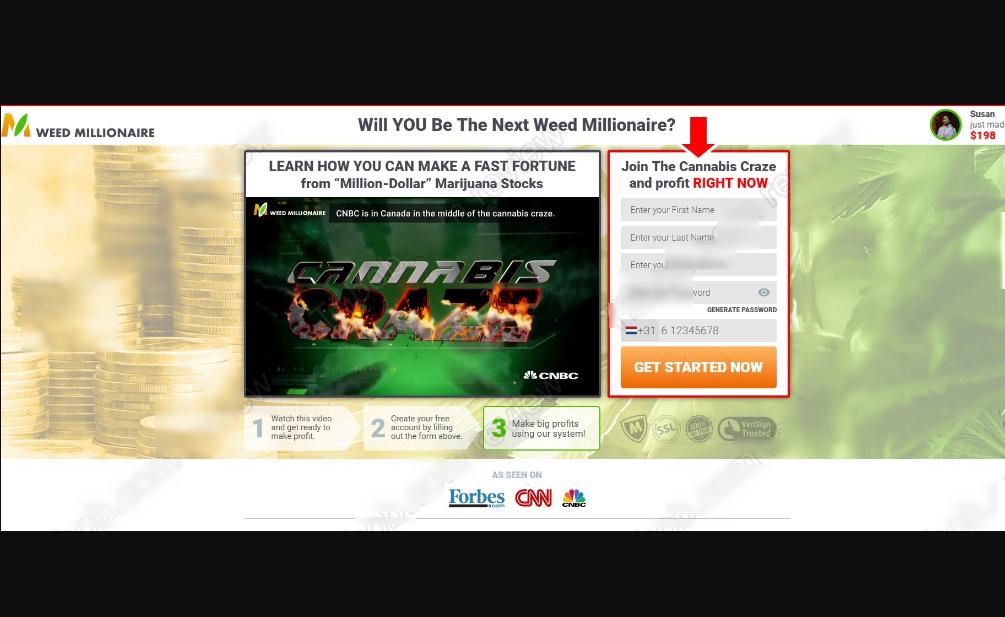 9d42da8cd3 Weed Millionaire Permette Davvero di Guadagnare con le Azioni della  Cannabis?